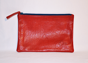 Heartcraft medium upcycled leather pouch MP0005 out