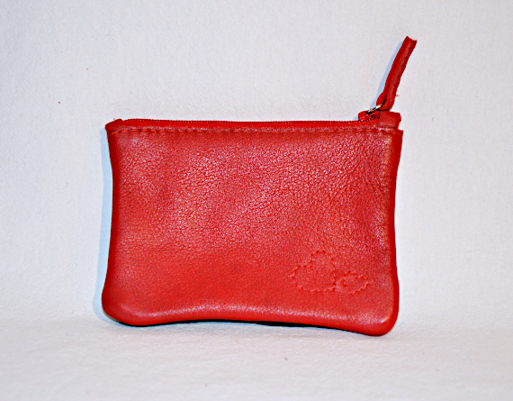 Heartcraft small upcycled leather pouch SP0001 back
